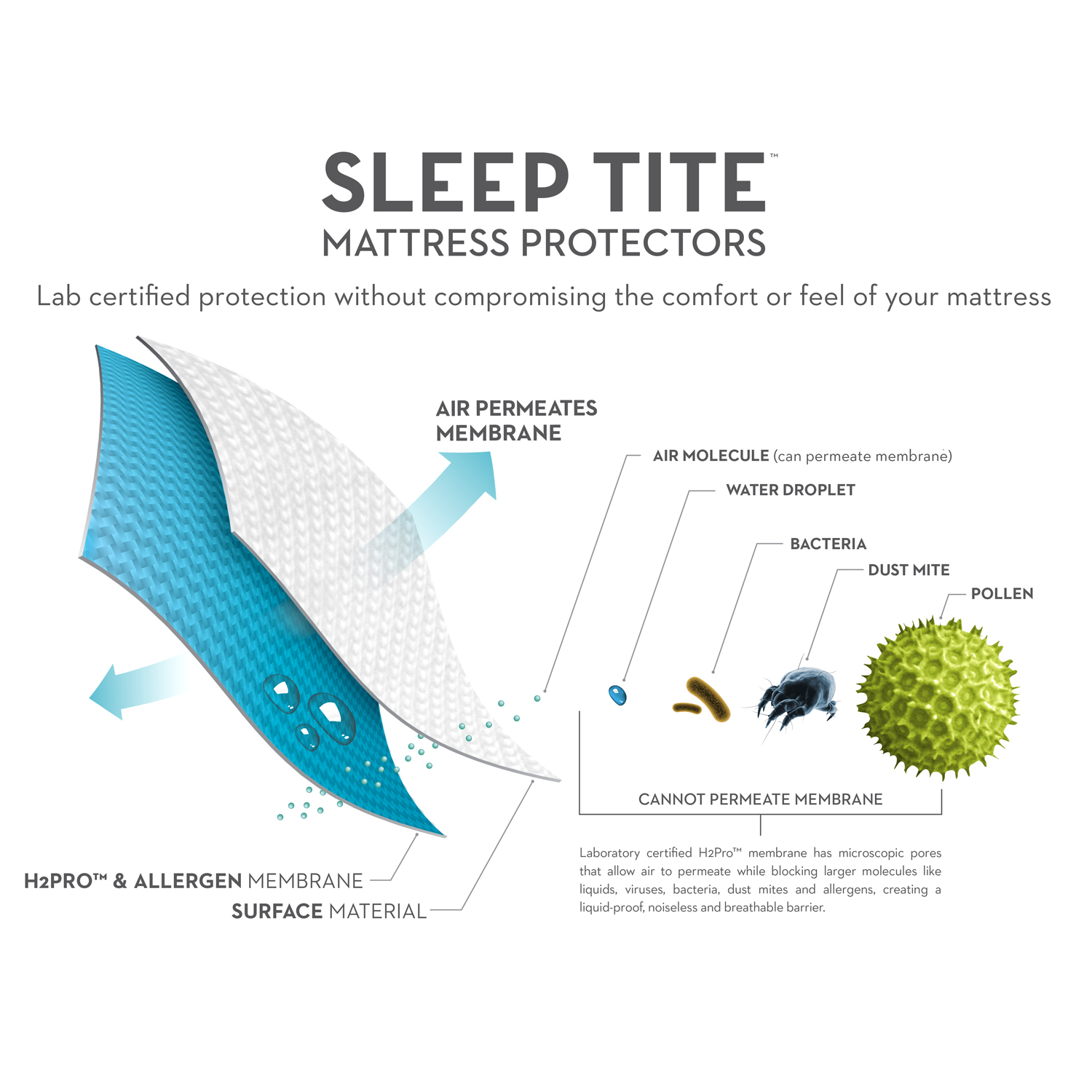 Protector Sleep Tite 5-Sided with Omniphase and Tencel